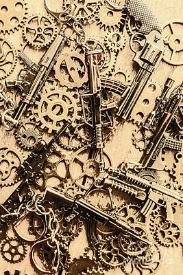 Pistol Parts And Rifle Pinions Print by Jorgo Photography - Wall Art Gallery