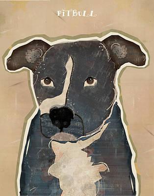 Pit Bull Print by Bri B