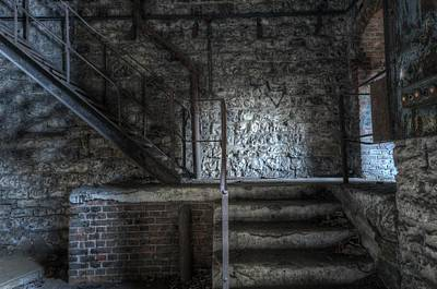 Building Factory Work Vintage Digital Art - Pit Head by Nathan Wright