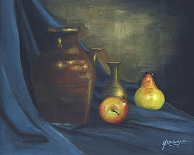 Water Pitcher Painting - Pitcher And Fruit by Debbie McIntyre