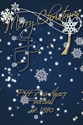 Pitt Panthers Christmas Cards Print by Joe Hamilton