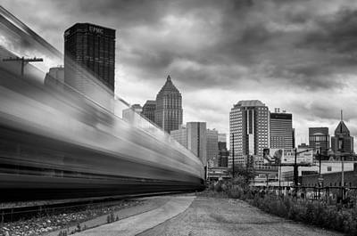 Pittsburgh Architecture 100 Bw Print by Emmanuel Panagiotakis