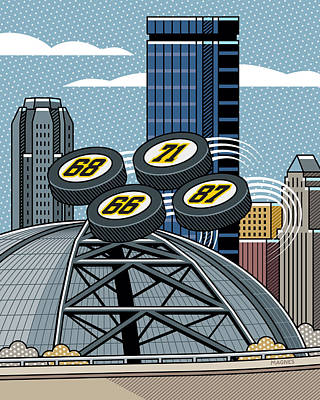 Hockey Digital Art - Pittsburgh Civic Arena by Ron Magnes