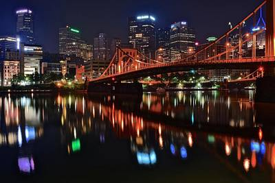 Pittsburgh Lights Print by Frozen in Time Fine Art Photography