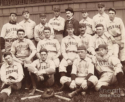 Pittsburgh National League Baseball Team Print by American School
