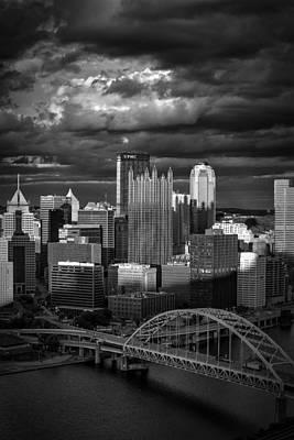 Pittsburgh Pennsylvania Skyline Print by David Haskett