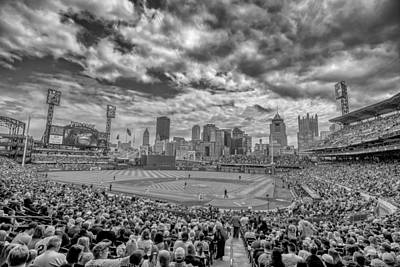 Pittsburgh Pirates Pnc Park Black And White 2 Print by David Haskett