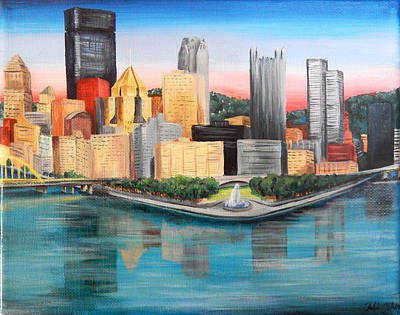 Pittsburgh Point And Three Rivers Original by Julia Cahill