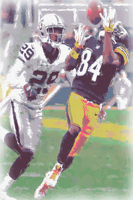 Pittsburgh Steelers Photograph - Pittsburgh Steelers Antonio Brown 1 by Joe Hamilton
