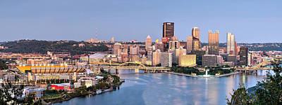 Pittsburgh Photograph - Pittsburgh-- Three Rivers Panorama by Matt Hammerstein