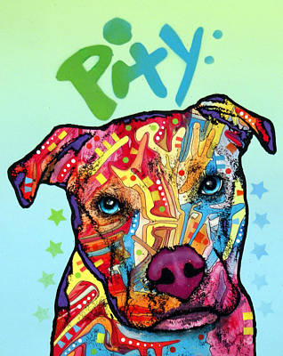 Dog Artist Painting - Pity by Dean Russo