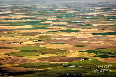 Pivots Galore Idaho Landscapes By Kaylyn Franks Print by Kaylyn Franks