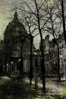 Place De La Sorbonne Print by Elena Nosyreva