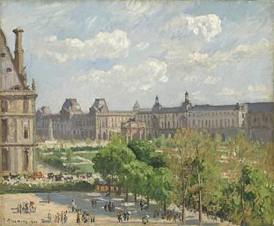 Place Du Carrousel - Paris Print by Camille Pissarro