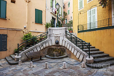 Local Photograph - Place Du Conseil In Villefranche-sur-mer by Elena Elisseeva