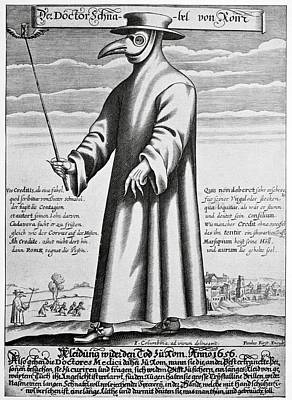 Plague Doctor, 17th Century Artwork Print by