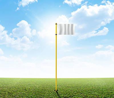 Turf Digital Art - Plain Grass And Blue Sky by Allan Swart