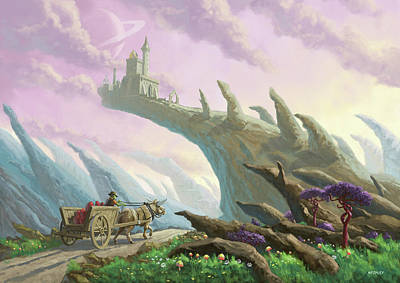 Pathway Digital Art - Planet Castle On Arch by Martin Davey