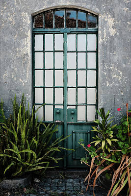 Plants In The Doorway Print by Marco Oliveira