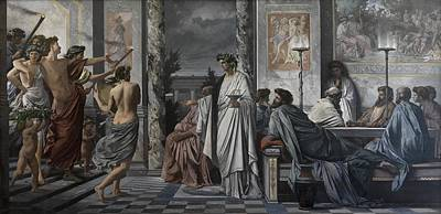 Wreath Painting - Plato's Symposium by Mountain Dreams