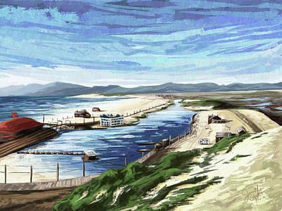 Santa Monica Digital Art - Playa Del Rey Lagoon 1904 by Jen Street