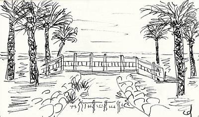 Playa Playamar In Torremolinos Print by Chani Demuijlder