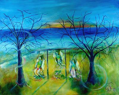 Swing Painting - Playful Spirits by Brigitta Richter