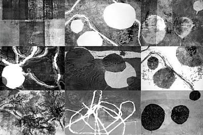 Playground In Black And White Print by Nancy Merkle