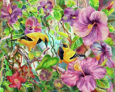 Fiber Art Painting - Please Share by Deborah Younglao