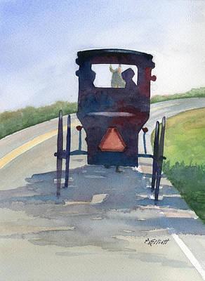 Amish Painting - Please Use Caution by Marsha Elliott