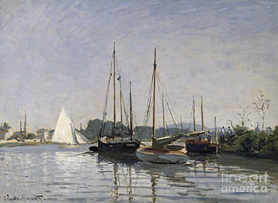 Pleasure Boats Argenteuil Print by Claude Monet