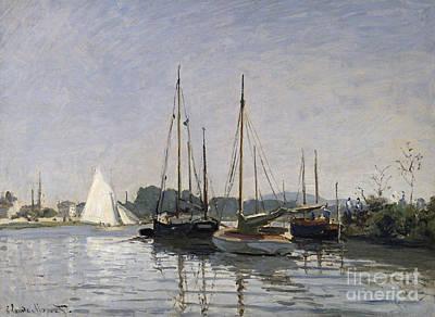 Seine Painting - Pleasure Boats Argenteuil by Claude Monet