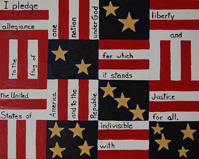 Patriotism Painting - Pledge by Charla Van Vlack