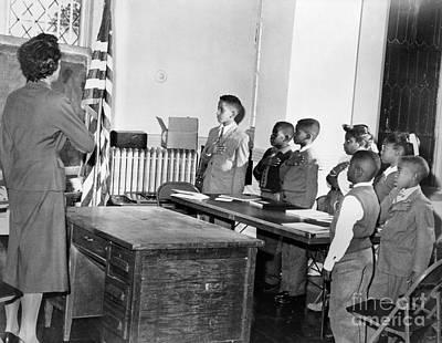 Pledge Of Allegiance, 1958 Print by Granger