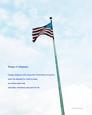 Stars And Stripes Mixed Media - Pledge Of Allegiance by Gerlinde Keating - Galleria GK Keating Associates Inc