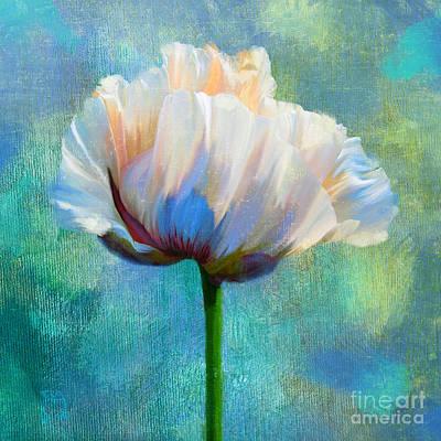 Plein Air Digital Art - Plein Air Au Printemps Poppy Flower Floral Art by Tina Lavoie