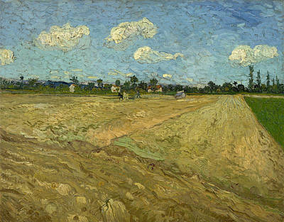 Rustic Painting - Ploughed Fields 'the Furrows' by Vincent van Gogh