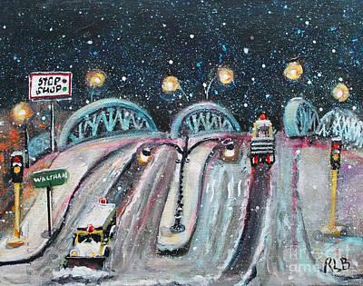 Ma. Mass Painting - Plowing The Green Bridge by Rita Brown