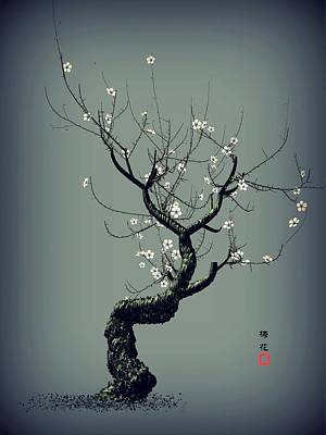 Plum Flower Print by GuoJun Pan
