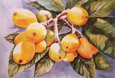 Plumb Painting - Plumb Juicy by Roxanne Tobaison
