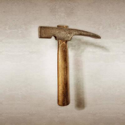 Hammer Photograph - Plumb Masonry Hammer by YoPedro