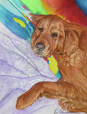 Potato Mixed Media - Plumb Tuckered Out by Renee Catherine Wittmann