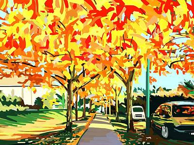 Ipad Design Digital Art - Plumes Of Leaves by Plum Ovelgonne