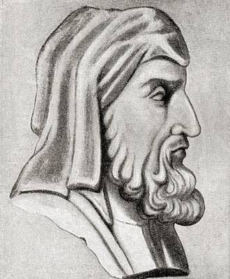Historian Drawing - Plutarch, Born Plutarchos Then, On His by Vintage Design Pics