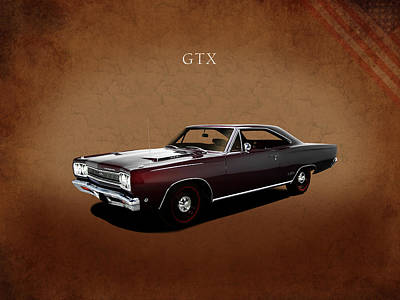 Plymouth Gtx 1968 Print by Mark Rogan