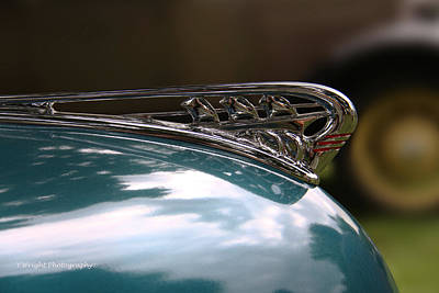 Hoodie Digital Art - Art Deco Plymouth Hood Ornament by Yvonne Wright