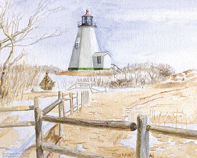 Plymouth Light In Winter Print by Dominic White