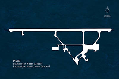 Pilot Digital Art - Pmr Palmerston North Airport In Palmerston North New Zealand Run by Jurq Studio