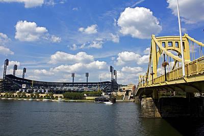 Pnc Park And Roberto Clemente Bridge Pittsburgh Pa Print by Kristen Vota