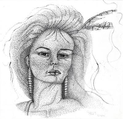 Orca Drawing - Pocahontas by Mayhem Mediums